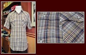 camisa western levis caudros claros
