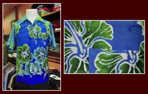 hawaiana azul flor verde